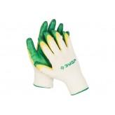 Трикотажные перчатки с двойной обливной ладонью из латекса З..