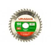 Диск пильный по дереву Оптимальный рез (190x30 мм; 36Т) Urag..