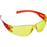 Защитные очки открытого типа Зубр Мастер, желтые, пластиковы..
